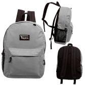 24 of 17 Inch Classic Bulk Backpacks In Grey