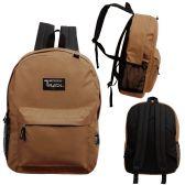 24 of 17 Inch Classic Bulk Backpacks In Brown