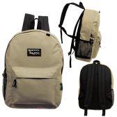 24 of 17 Inch Classic Bulk Backpacks In Khaki