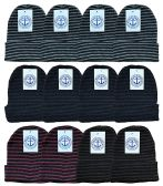 12 of Yacht & Smith Mens Womens Warm Winter Hats in Assorted Colors, Mens Womens Unisex (12 Pack Stripe)