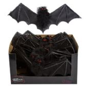 48 of Hanging Feather Bat W/non-woven Black Wings