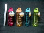 24 of 800ml Plastic Water Bottle with Straw