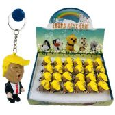 """24 of 2.5"""" Light Up Key Chain With Sound (trump)"""