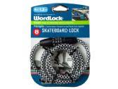 24 of WordLock 8mm 4 Ft Skateboard Lock