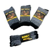 24 of Thermal Boot Socks 9-13 [Assorted] Variegated