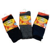 24 of 1 Pair Men's Extreme Thermal Crew Socks 10-13