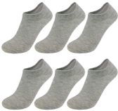 60 of Yacht & Smith Unisex Kids No-Show Ankle Socks Size 6-8 Gray BULK PACK