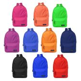 "24 of 17"" Kids Basic Backpacks In 12 Randomly Assorted Colors"