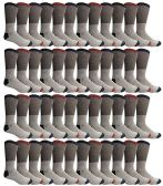 48 of Yacht & Smith Mens Cotton Thermal Crew Socks, Cold Weather Boot Sock Shoe Size 8-12