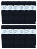 12 of Yacht & Smith Men's 30 Inch Premium Cotton King Size Extra Long Black Tube Socks- Size 13-16