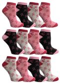 12 of Yacht & Smith Pink Ribbon Breast Cancer Awareness Ankle Socks for Women