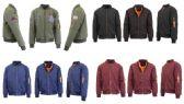 192 of Men's Heavyweight MA-1 Flight Bomber Jackets Pallet Deal Mix Sizes Colors