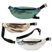 24 of Crack Design Large Bulk Fanny Packs Belt Bags In 3 Assorted Colors