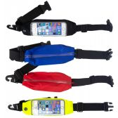 24 of Cell Phone Workout Fanny Pack Belt Bags In 4 Assorted Colors