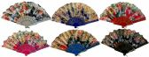 48 of Colorful Fan with assorted Flower design