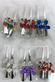 48 of Metal Hair Clamp Rhinestone Flower Design