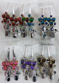 48 of Metal Hair Clamp Rhinestone Peacock Design