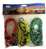 48 of 6 Pieces Bungee cord assorted size