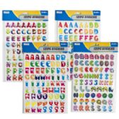 96 of 142pc Alphabet/numbers Stickers
