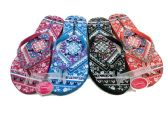48 of MODERN WOMENS FLIP FLOP WITH POTPOURRI PRINT