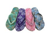 48 of WOMENS FLIP FLOPS WITH DIAMOND PRINT