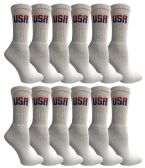 120 of Yacht & Smith Women's Cotton USA Tube Socks, Referee Style size 9-11