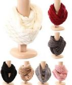 48 of Women's Cable Knit Winter Infinity Scarf With Plus Lining Neck Warmer