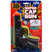 "72 of 7"" BLACK SUPER CAP TOY GUN(SQUARE) ON BLISTER CARD"