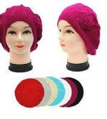 36 of Winter Heavy Knit Beret Assorted Colors