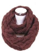 72 of Women's Knitted Winter Infinity Scarf