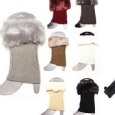 72 of Women Winter Faux Fur Boot Cuff Knitting Leg Warmers Short