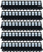 120 of Yacht & Smith Black Magic Stretch Gloves Bulk Thermal Winter Gloves Solid Black