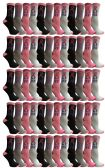 60 of PINK RIBBON LIVE BREAST CANCER AWARENESS CREW SOCKS FOR WOMEN