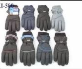 12 of MENS WINTER SKI GLOVES WITH THINSULATE