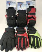 12 of TRUFIT MENS INSULATED WATERPROOF SKI GLOVES ASST COLORS