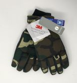 12 of MEN'S IGLOOS THINSULATE CAMO SKI GLOVES