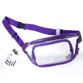 24 of Fanny Packs Clear Transparent Waist Travel Packs In Purple