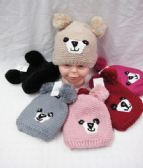 36 of KID WINTER KNITTED HAT WITH FUR LINED AND PO POM