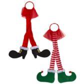 24 of Door Hanger Elf Santa Legs Christmas