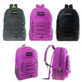 "24 of 19"" Bungee Backpack in 3 Assorted Colors"