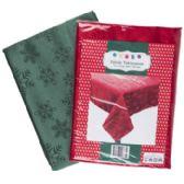 24 of Tablecloth Fabric Christmas