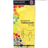 48 of Yellow Plastic Tablecover Rectangle