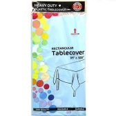 48 of Light Blue Plastic Tablecover Rectangle