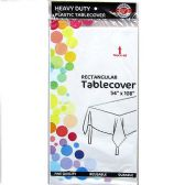 48 of White Plastic Tablecover Rectangle