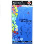 48 of Royal Blue Plastic Tablecover Rectangle