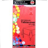 48 of Watermelon Red Plastic Tablecover Rectangle