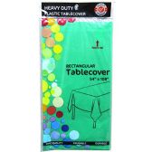 48 of Hunter Green Plastic Tablecover Rectangle