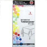 48 of Clear Plastic Tablecover Rectangle