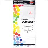 48 of White Plastic Tablecover Round