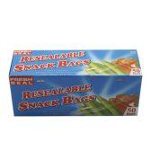 24 of 8 PIECE RESEAL 2 GALLON FREEZER BAGS